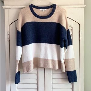 Madewell ColorBlock Soft Pullover Crewneck Sweater
